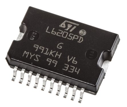 STMicroelectronics L6205PD,  Brushed Motor Driver IC, 52 V 2.8A 20-Pin, PowerSO