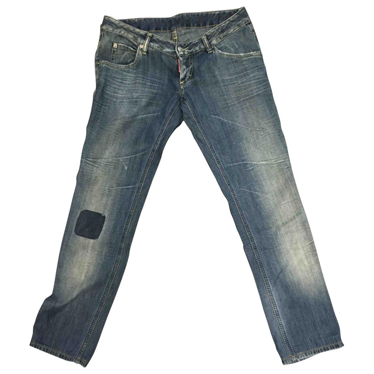 Dsquared2 \N Blue Cotton Jeans for Women 38 FR