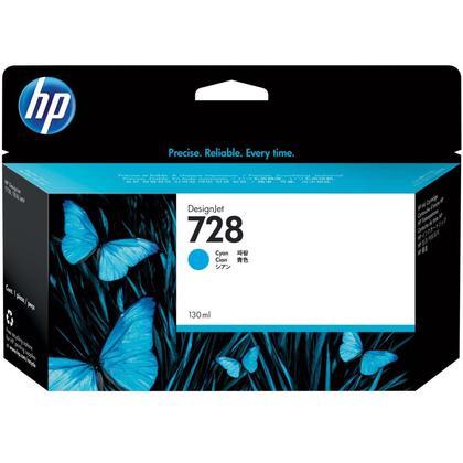 HP 728 F9J67A 130ml Original Cyan Ink Cartridge High Yield