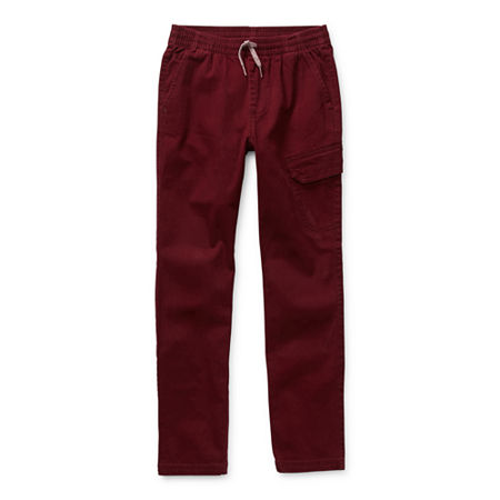 Arizona Little & Big Boys Tapered Jogger Pant, Medium (10-12) , Red