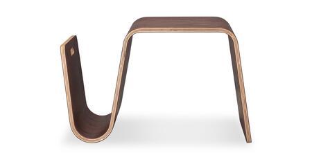 SCANDO-ST-WALNUT Scando Mid-Century Modern Plywood Side Table  Walnut