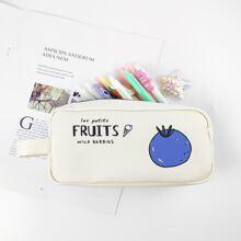 Fruit Print Pencil Case