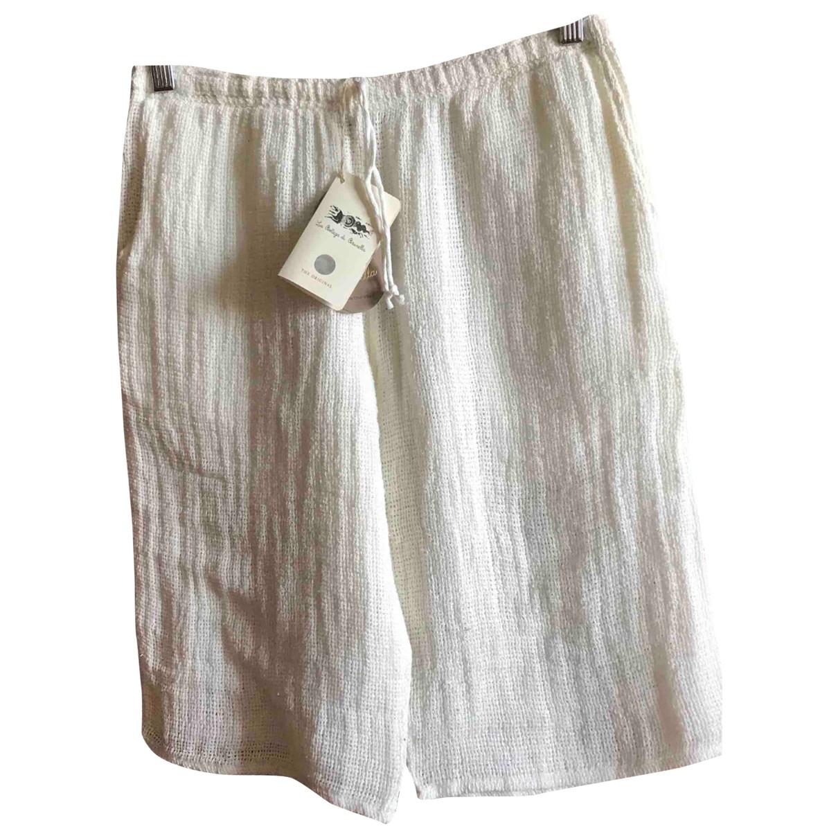 Non Signé / Unsigned \N White Linen Trousers for Men L International