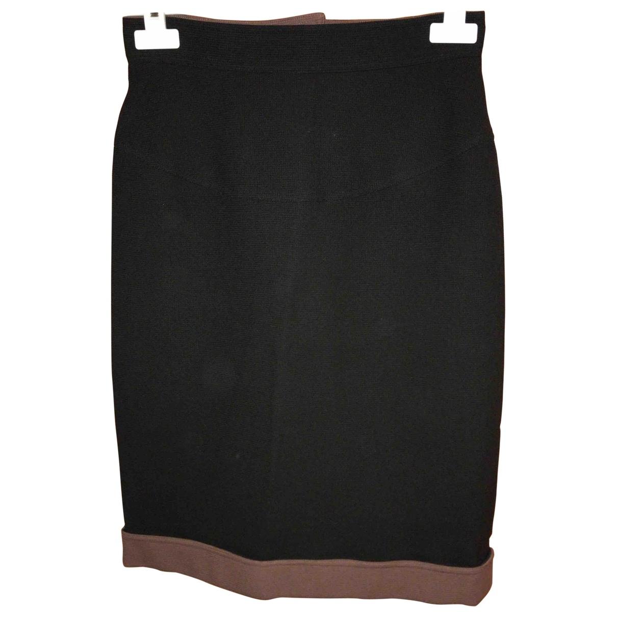 Fendi - Jupe   pour femme en laine - noir