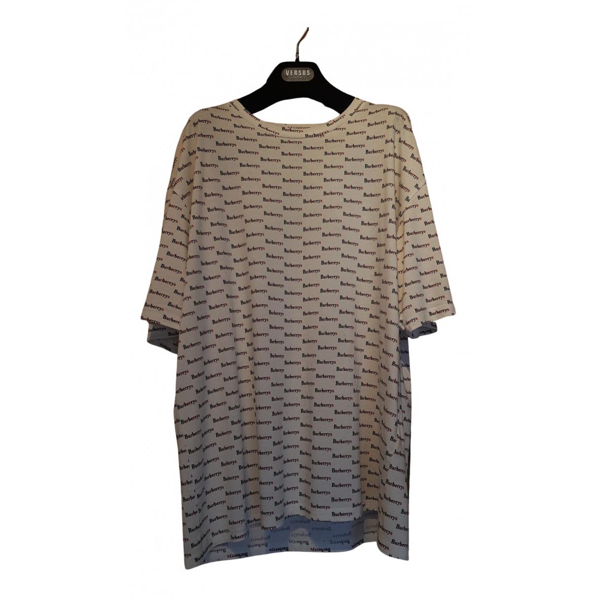 Burberry - Tee shirts   pour homme en coton - ecru