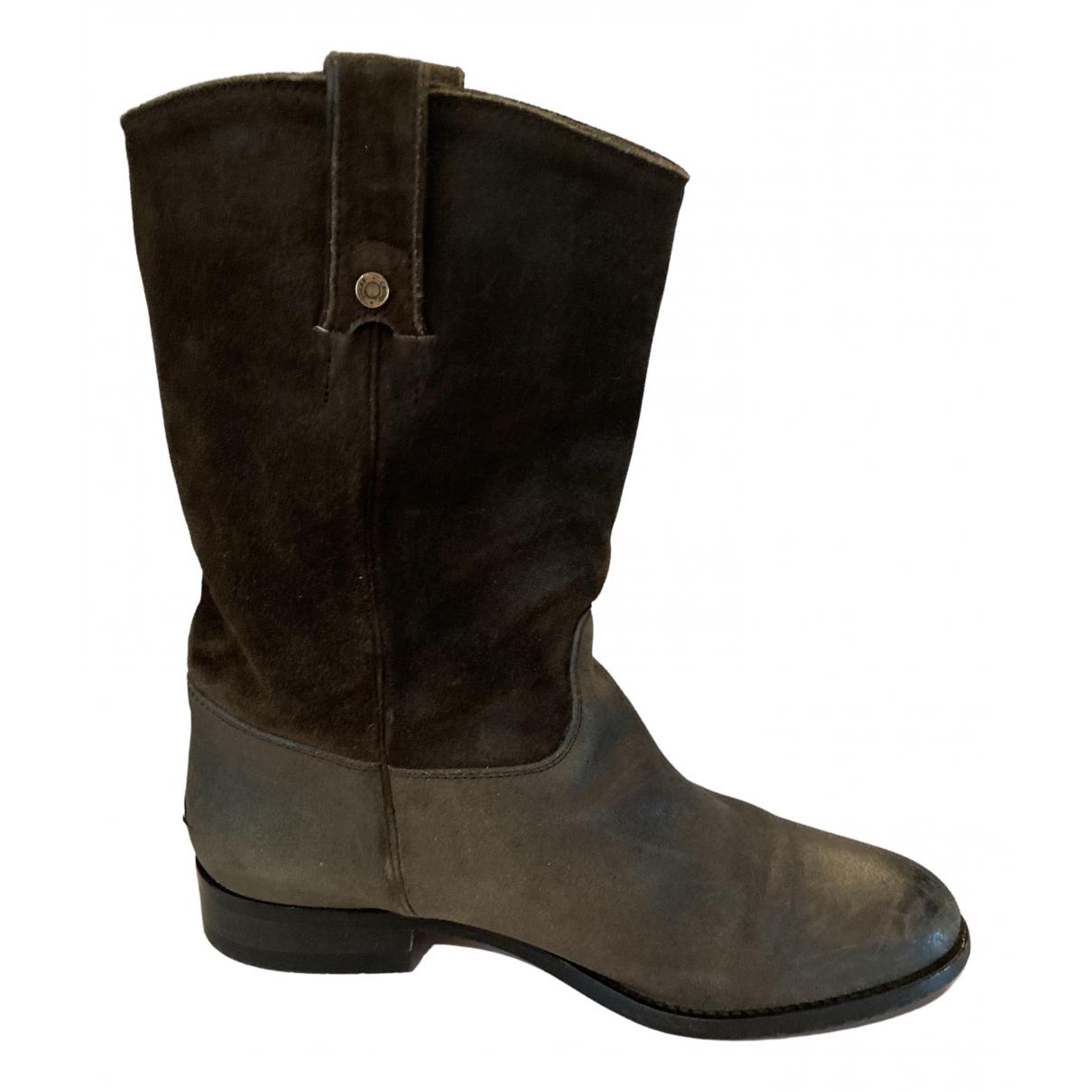 Jimmy Choo - Boots   pour femme en cuir - marron