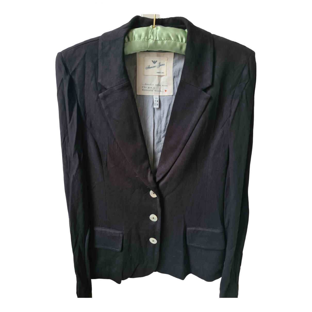 Armani Jeans \N Black jacket for Women 38 FR