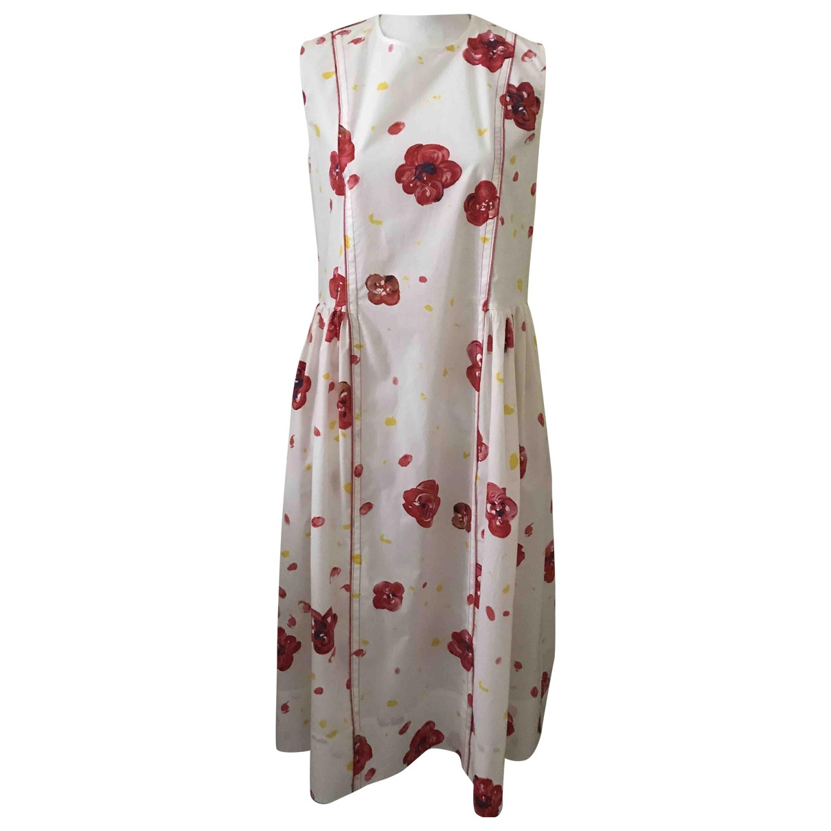 Marni \N White Cotton dress for Women 40 IT
