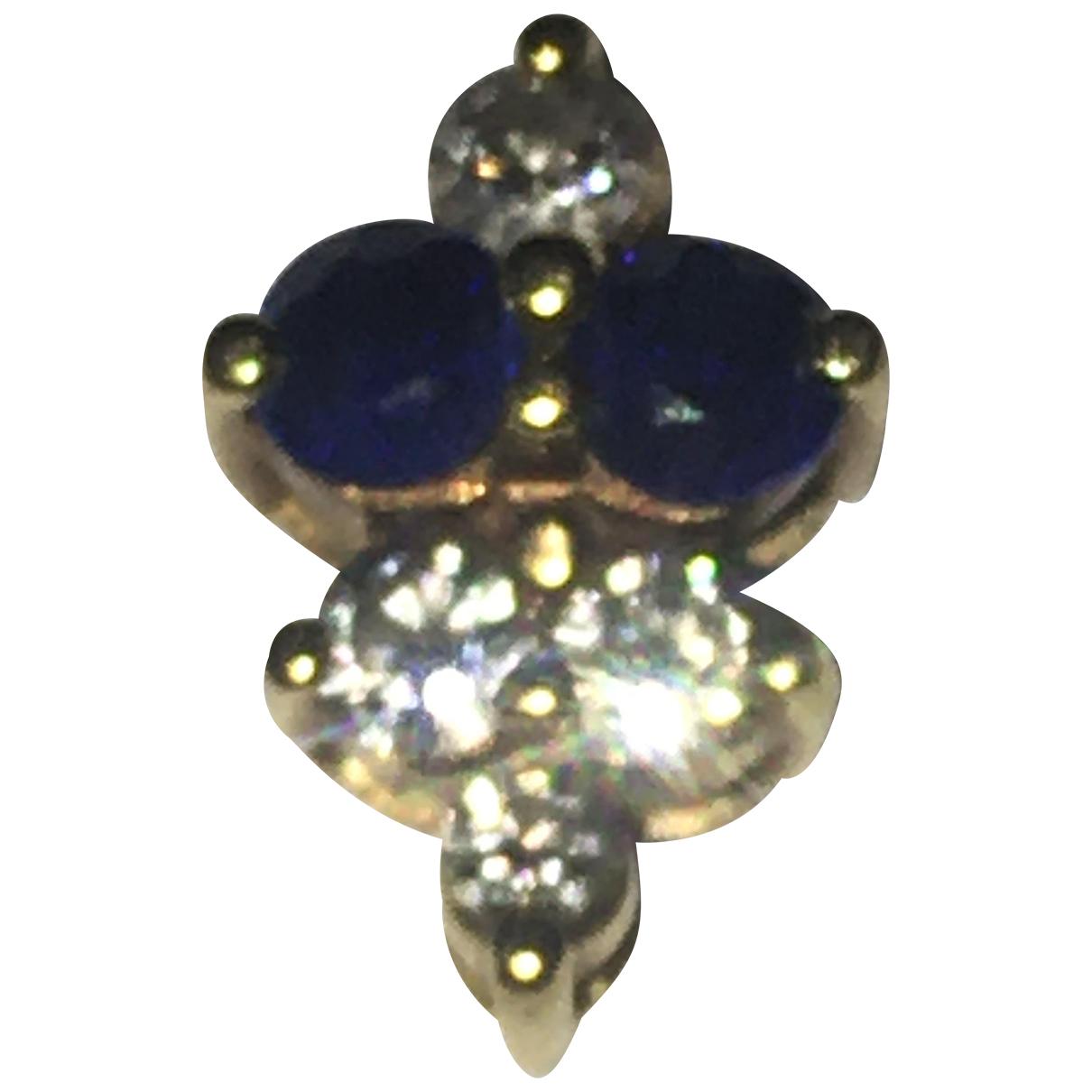 - Pendentif Saphir pour femme en or jaune - bleu