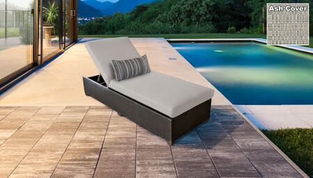 Belle BELLE-1x-ASH Wicker Patio Chaise - Wheat and Ash