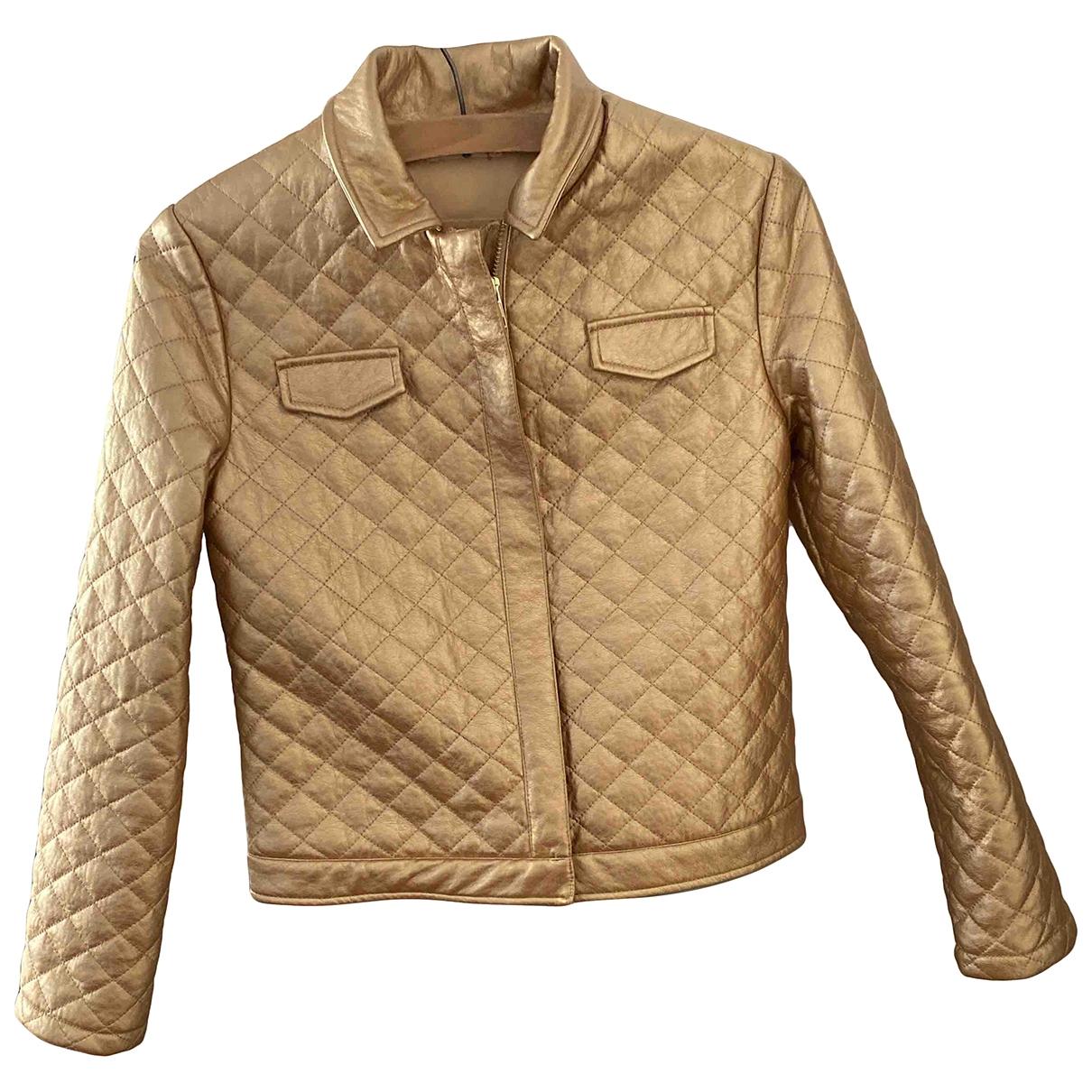 Billieblush \N Jacke, Maentel in  Gold Polyester