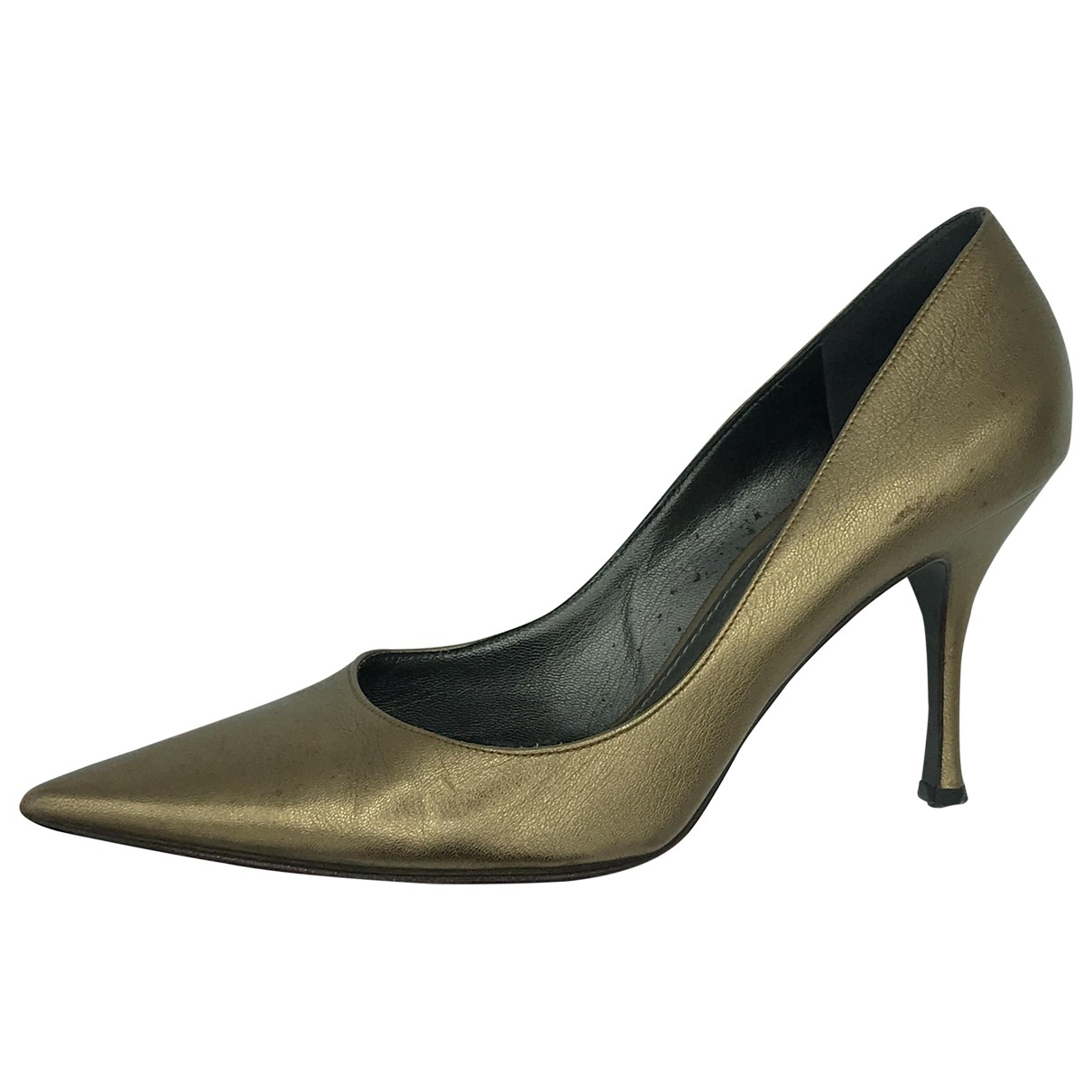 Dolce & Gabbana \N Metallic Leather Heels for Women 39.5 EU