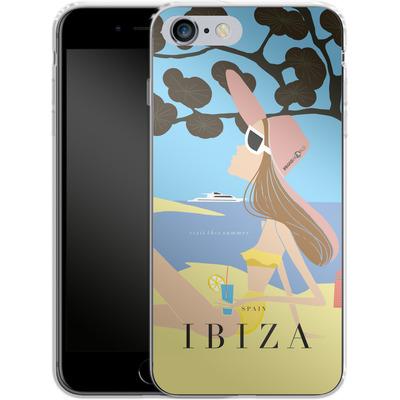 Apple iPhone 6s Plus Silikon Handyhuelle - IBIZA TRAVEL POSTER von IRMA