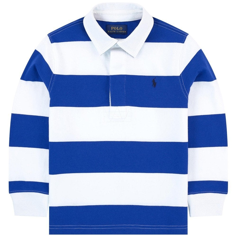 Ralph Lauren Kids Long Sleeve Polo Shirt Blue Colour: BLUE, Size: 10-12 YEARS