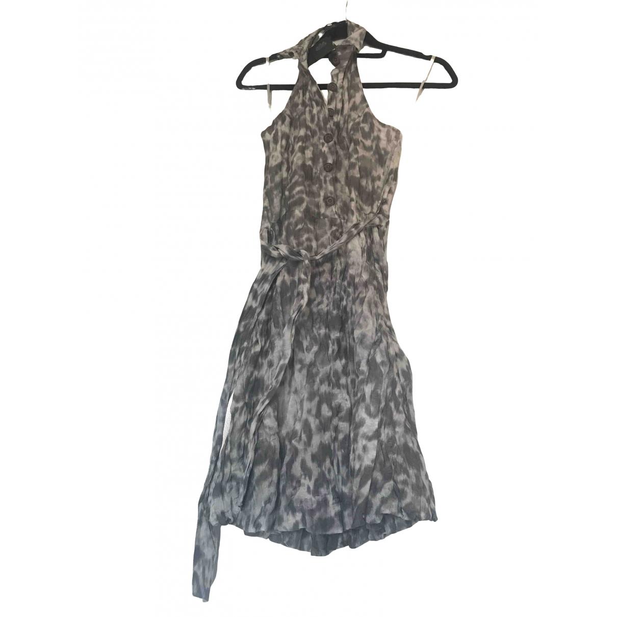 Non Signé / Unsigned \N Grey Cotton jumpsuit for Women 34 FR
