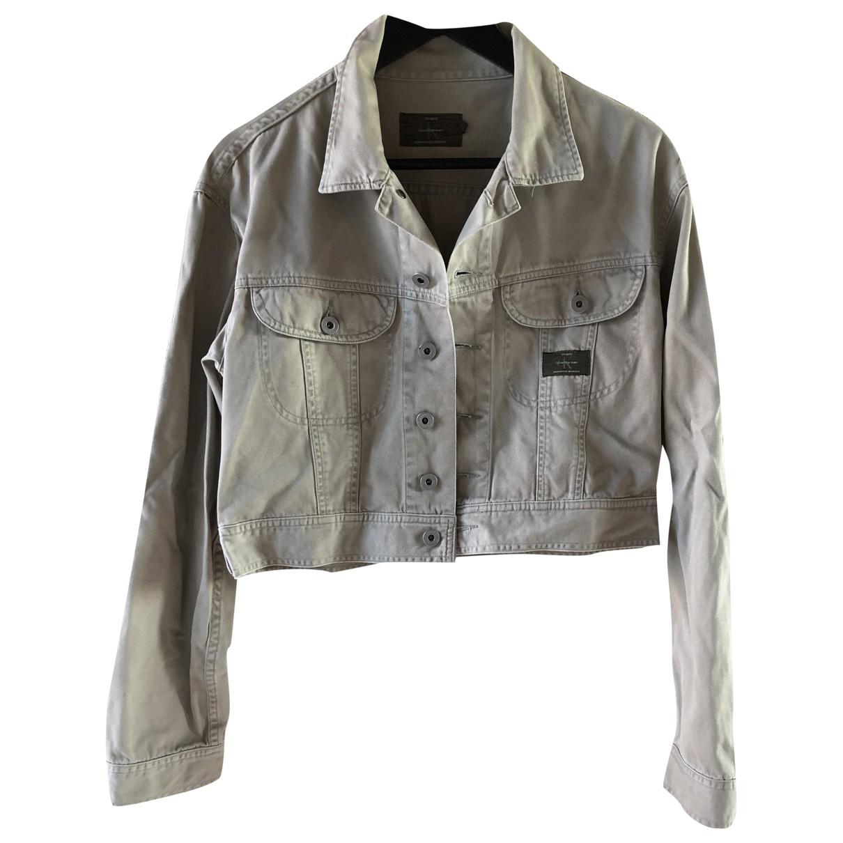 Calvin Klein \N Khaki Denim - Jeans jacket for Women M International