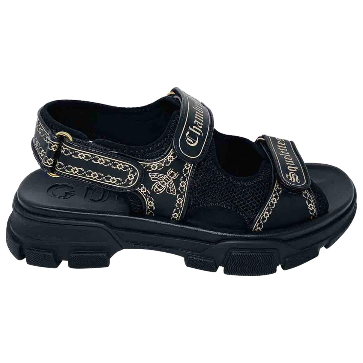 Gucci - Sandales   pour homme en cuir - noir