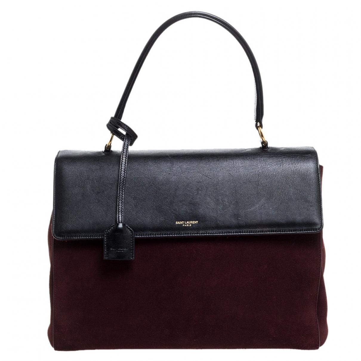 Saint Laurent Moujik Burgundy Leather handbag for Women N