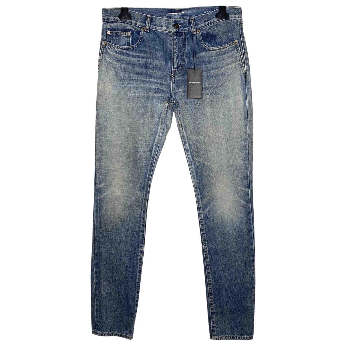 Saint Laurent N Blue Cotton - elasthane Jeans for Men 32 US