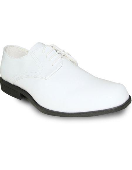 Men's Tuxedo White Oxford Formal Prom Wedding Lace Up Dress Shoe
