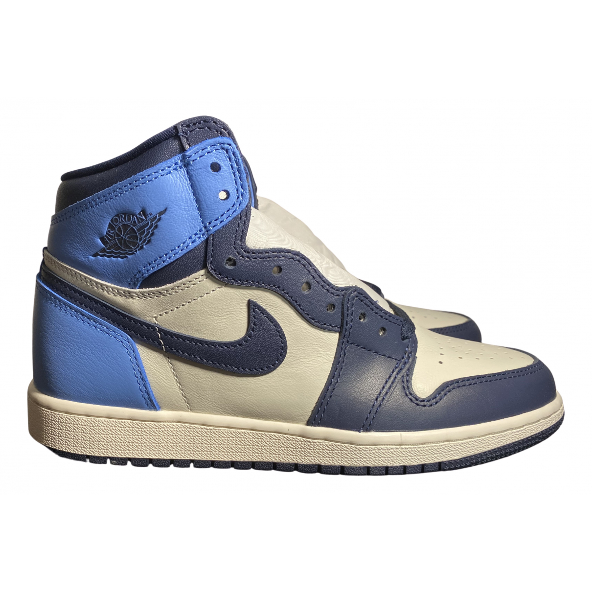 Jordan Air Jordan 1  Blue Leather Trainers for Women 7 US