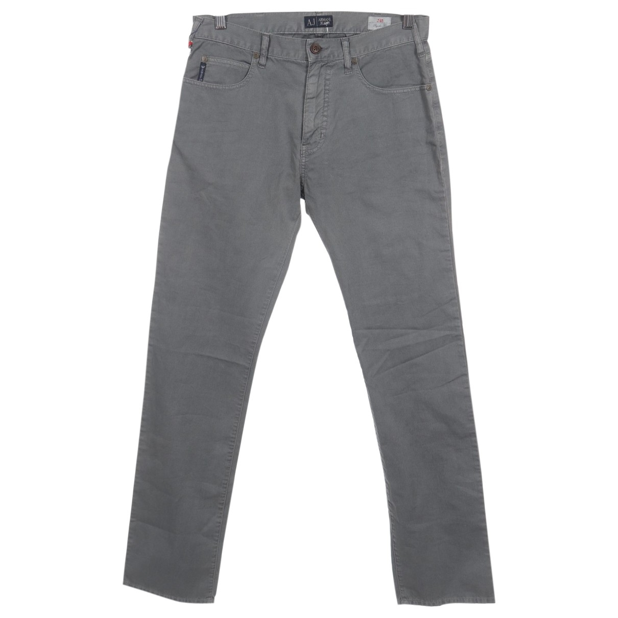 Armani Jeans \N Grey Cotton Trousers for Men 30 UK - US