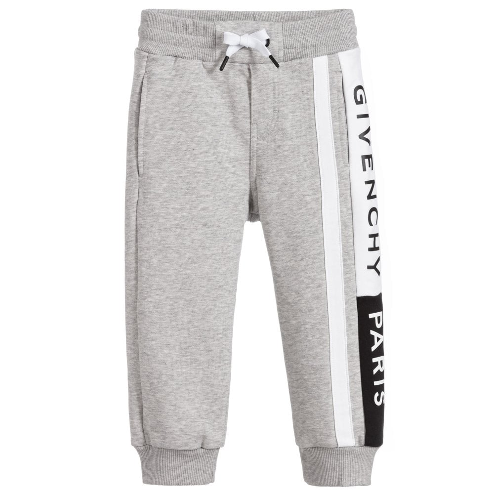 Givenchy Kids Logo Print Joggers Colour: GREY, Size: 10 YEARS