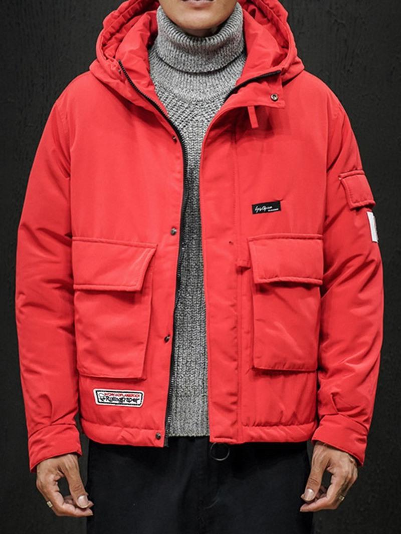 Ericdress Zipper Hooded Mid-Length European Mens Down Jacket