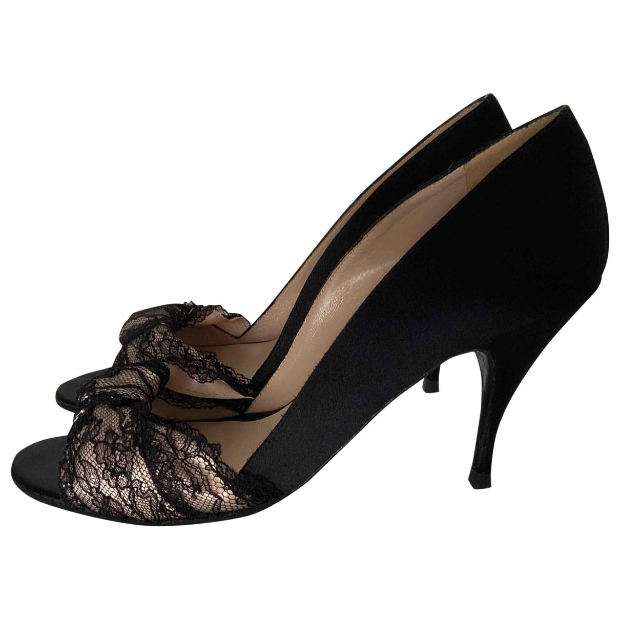 Bruno Frisoni \N Black Cloth Heels for Women 38.5 EU