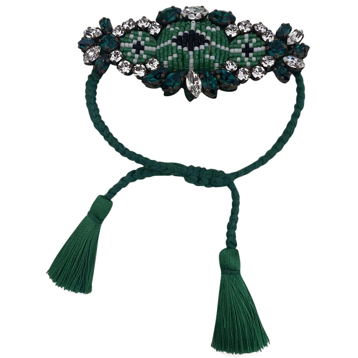 Shourouk - Bracelet   pour femme en soie - vert