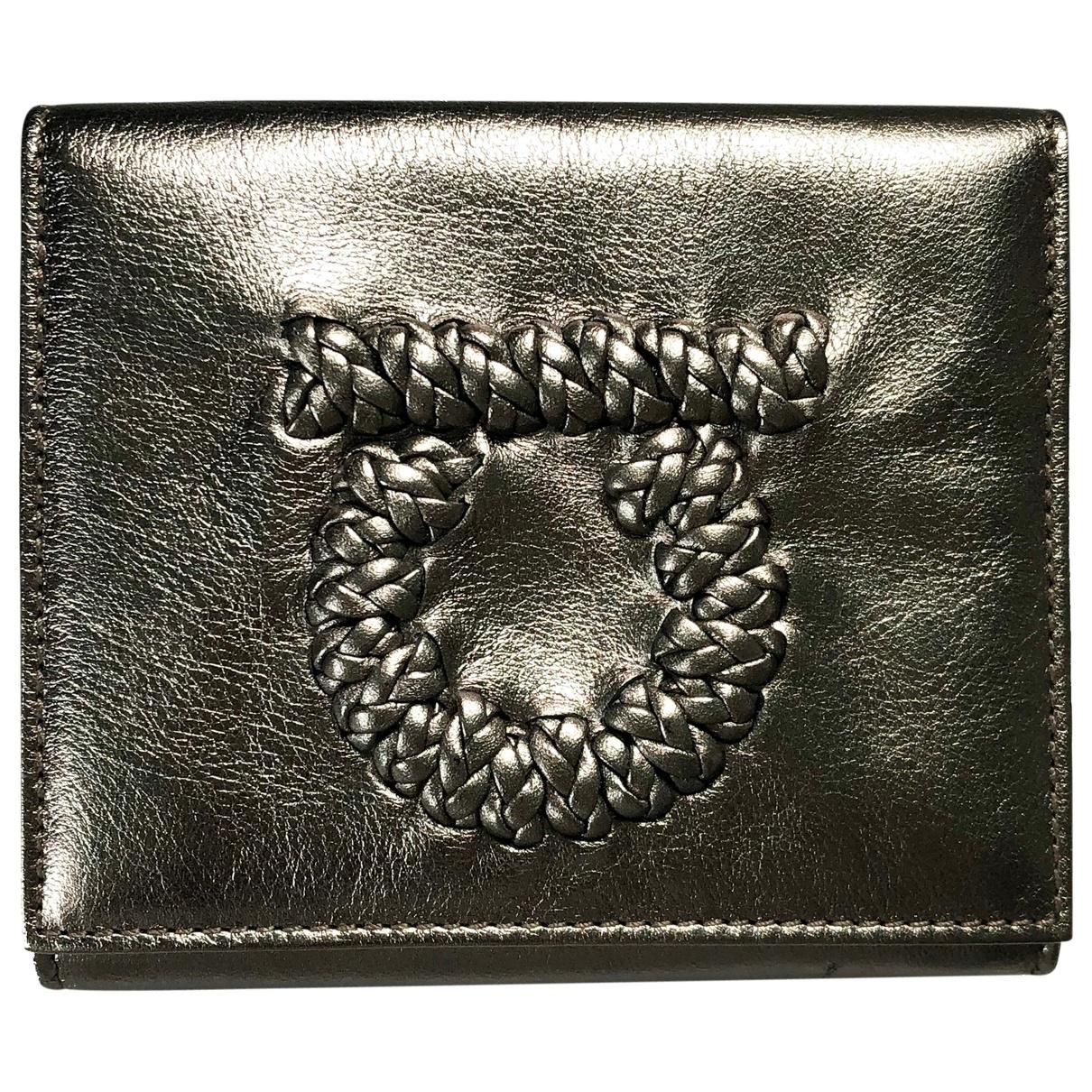 Salvatore Ferragamo \N Metallic Leather wallet for Women \N