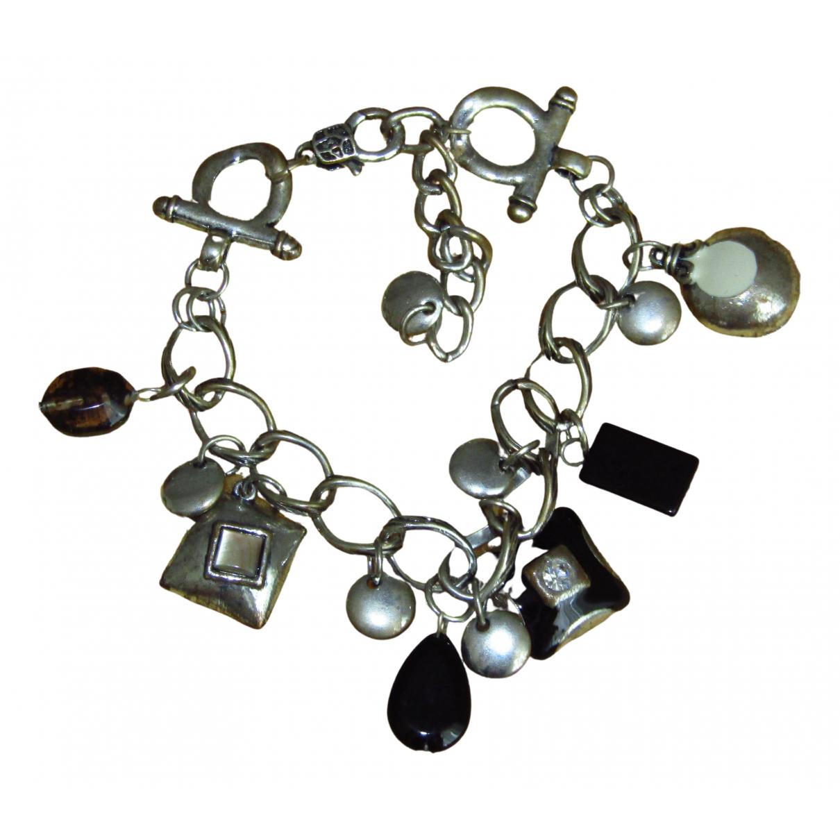 - Bracelet Gourmette pour femme en metal - argente