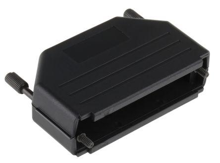 MH Connectors , MHDPPK-SLIM Polyamide D-sub Connector Backshell, 50 Way, Strain Relief, Black (5)