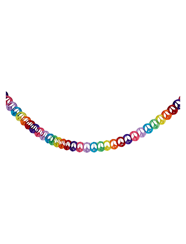 Girlande Peace 4m Farbe: multicolor bzw. bunt
