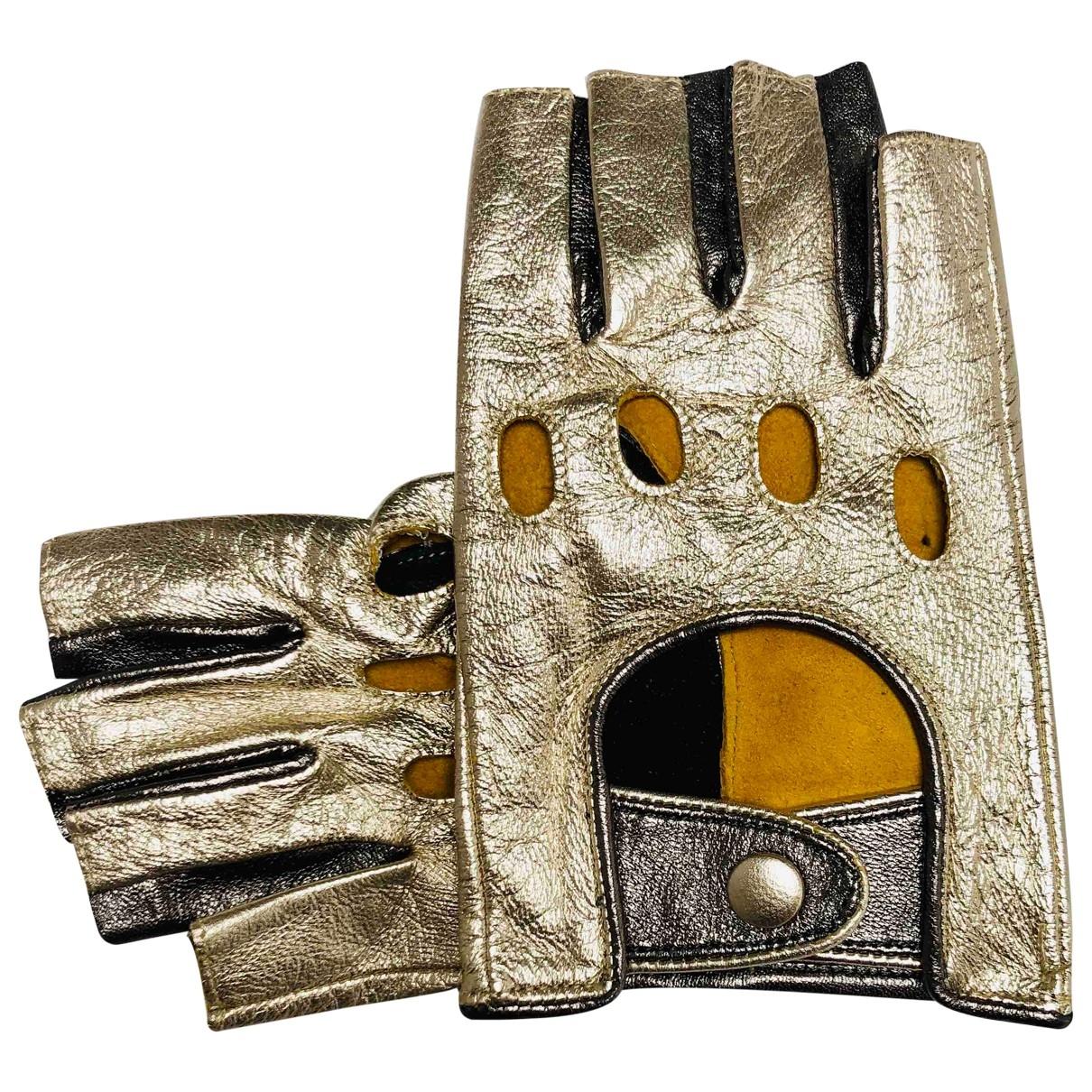 Paule Ka \N Handschuhe in  Gold Leder