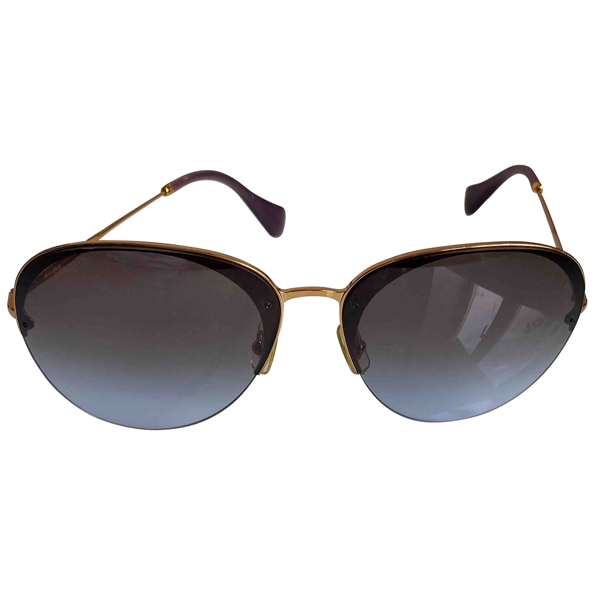 Miu Miu \N Gold Metal Sunglasses for Women \N