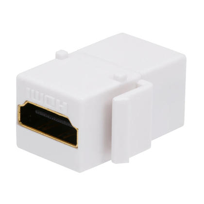 HDMI® Female to Female Coupler Adapter Keystone Jack - White - PrimeCables®