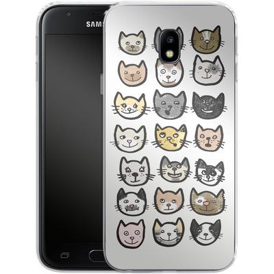 Samsung Galaxy J3 (2017) Silikon Handyhuelle - 28 Cats von caseable Designs