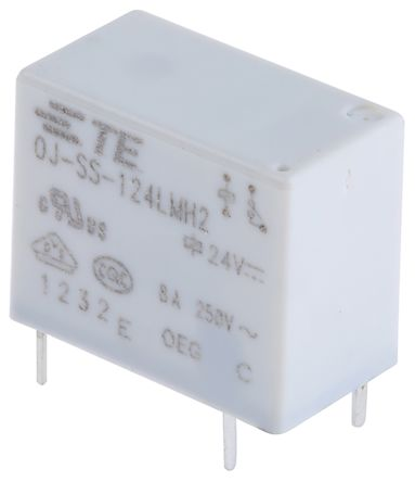 TE Connectivity , 24V dc Coil Non-Latching Relay SPNO, 8A Switching Current PCB Mount Single Pole