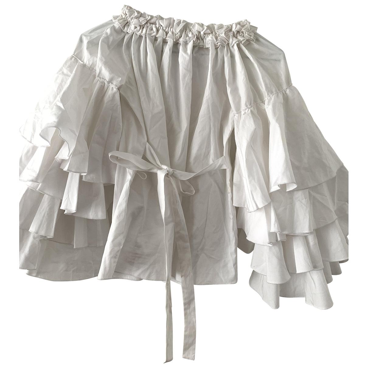 Jour/ne - Top   pour femme en coton - blanc