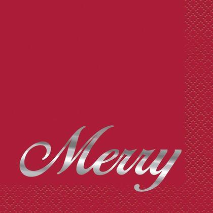 Des serviettes de table élégantes rouges, 16pcs / pack