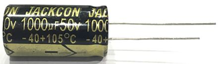 RS PRO 220μF Electrolytic Capacitor 50V dc, Through Hole (1000)