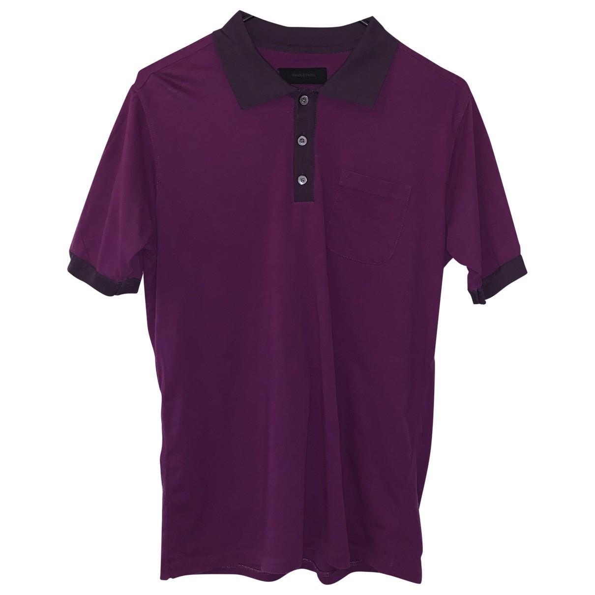 Nicole Farhi - Polos   pour homme en coton - violet