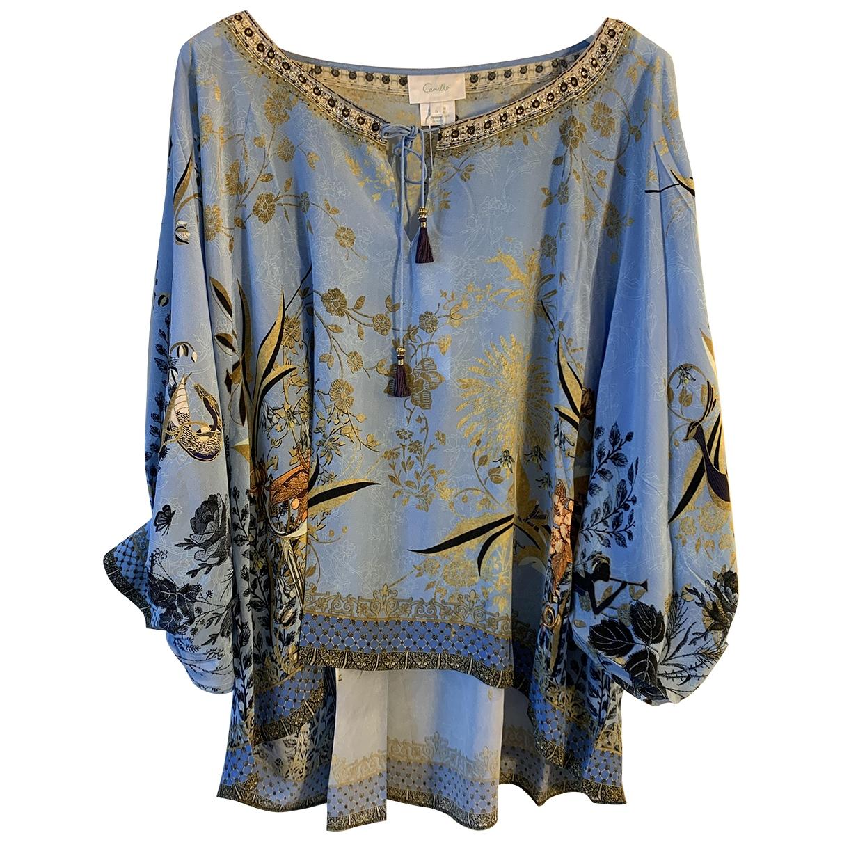 Camilla \N Blue Silk  top for Women S International