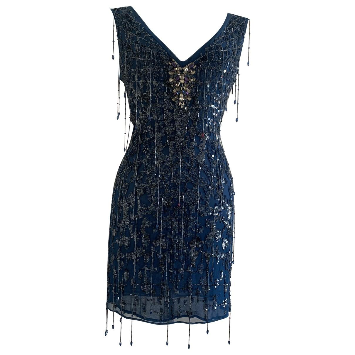 Roberto Cavalli - Robe   pour femme en soie - bleu
