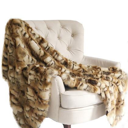 Brandy Gold Faux Fox Collection PBSF1403-9090-TC 90L x 90W Full Handmade Luxury
