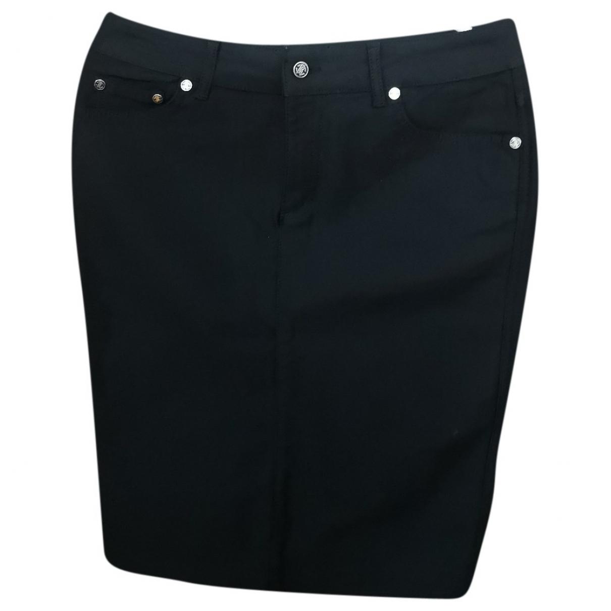 Roberto Cavalli \N Black Denim - Jeans skirt for Women M International