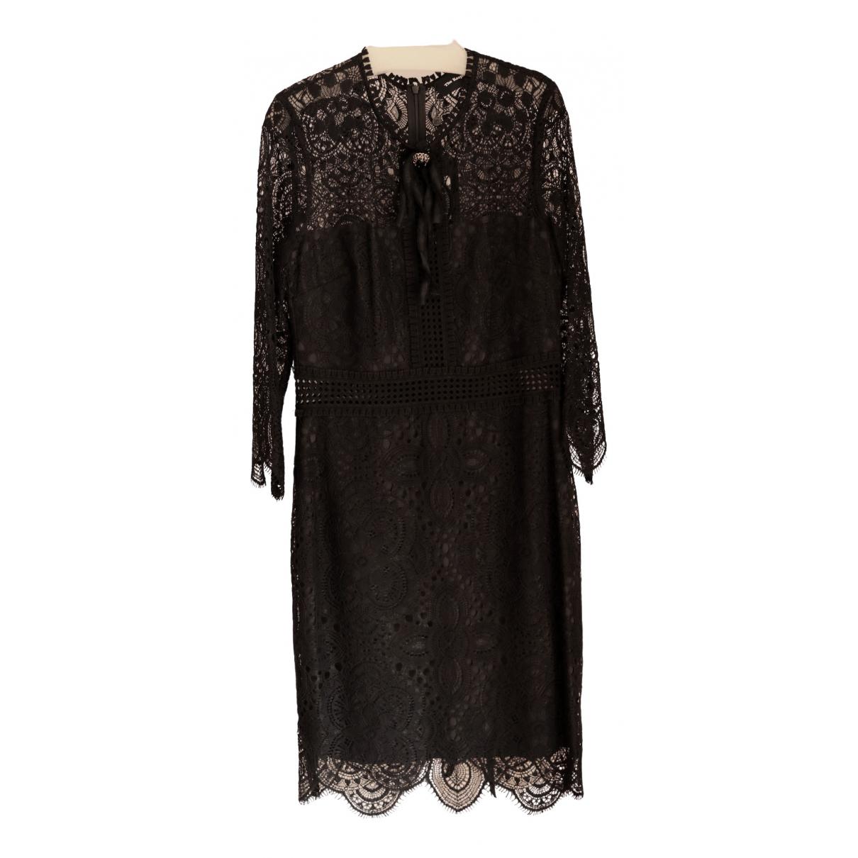 The Kooples \N Kleid in  Schwarz Baumwolle