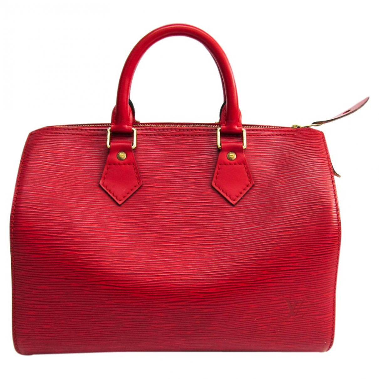 Louis Vuitton Speedy Handtasche in  Rot Leder