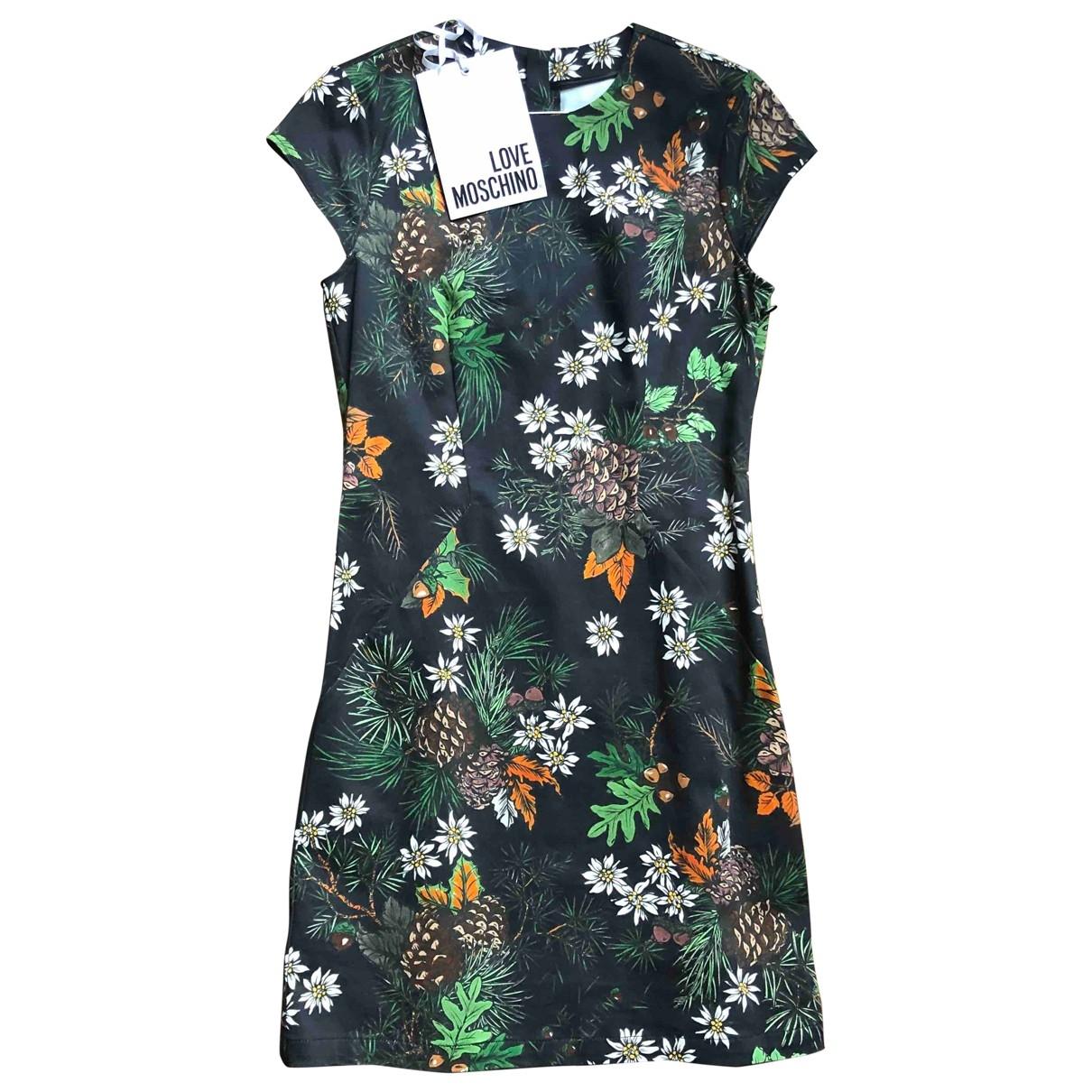 Moschino Love \N Kleid in  Schwarz Baumwolle